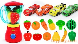 Learn Colors Feeding Baby Food Disney Cars with Toy Blender Fruits & Vegetables Velcro Toys