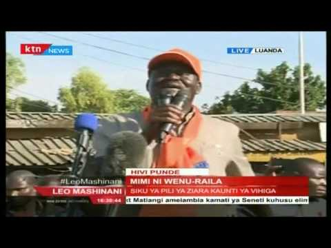 Raila Odinga gets heroic welcome at Luanda Market, Vihiga County