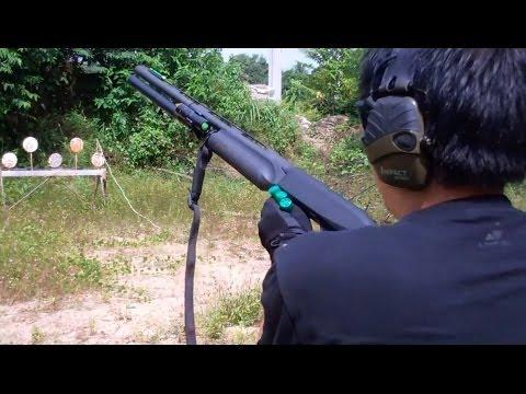เกราะกันกระสุน ทดสอบ อาก้า AK 102 (5.56) และ Benelli M2 (12 gauge) ตอน 4 / D.I.Y Armor Plate 04
