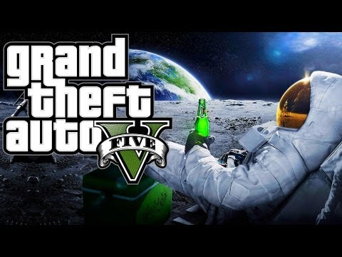 Grand Theft Auto 5 - Going to Space or the Moon? (GTA 5 Easter Egg)