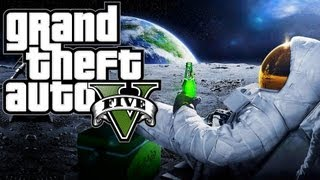 "Grand Theft Auto 5 - Going to Space or the Moon? (GTA 5 Easter Egg) ""GTA 5 Moon"" ""GTA 5 Space"""
