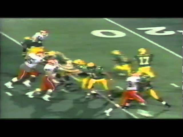 Oregon TE Josh Wilcox 23 yard catch vs. Illinois 9-09-1995