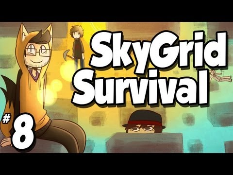 Minecraft: SkyGrid Survival   Ep.8   Pictures with The Witch!