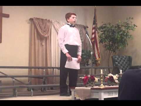 2012 Leesburg Christian School Zach Miller's solo - 03/25/2012