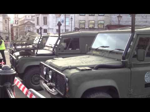 Tom Cruise new movie props in Trafalgar Square