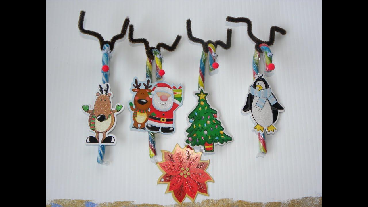 Renos Navideños de caramelo .- Candy Cane Reindeers - YouTube