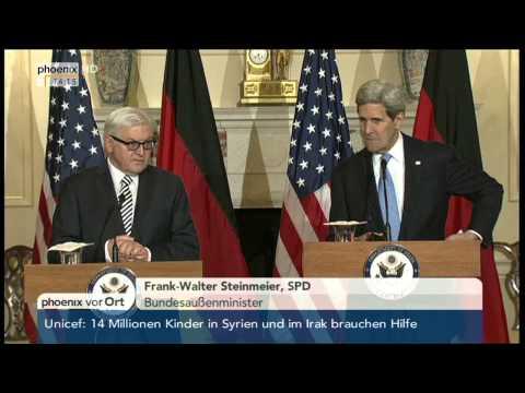 Ukraine-Krise: PK mit John Kerry und Frank-Walter Steinmeier am 11.03.2015