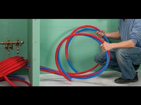 Installer un r seau de plomberie en per youtube for Plomberie salle de bain au sous sol