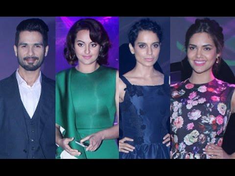 Shahid Kapoor, Sonakshi Sinha, Kangana Ranaut, Esha, Sachin Tendulkar at BMW i8 Hybrid Car Launch