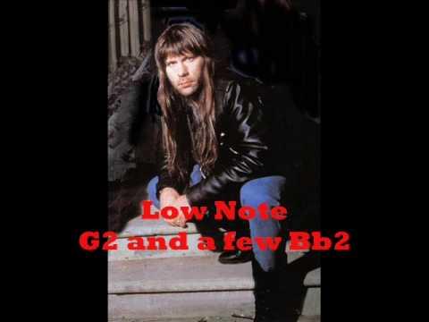 Bruce Dickinson vocal range 4 octaves C#2 - B5 Music Videos