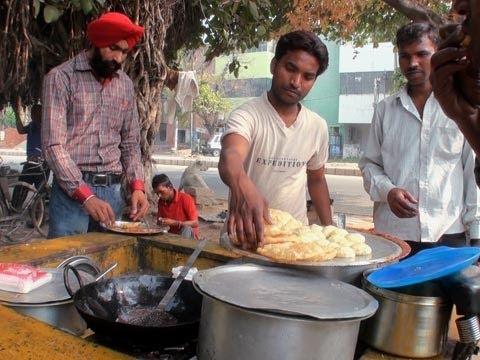 Channa Batura, Fast food, Roadside vendor, Haryana
