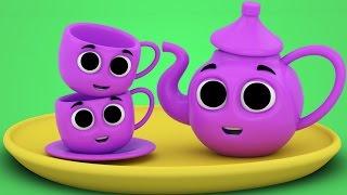 Eu sou um pequeno bule | canções para crianças | bule rima | I am a Little Teapot | Kids Song