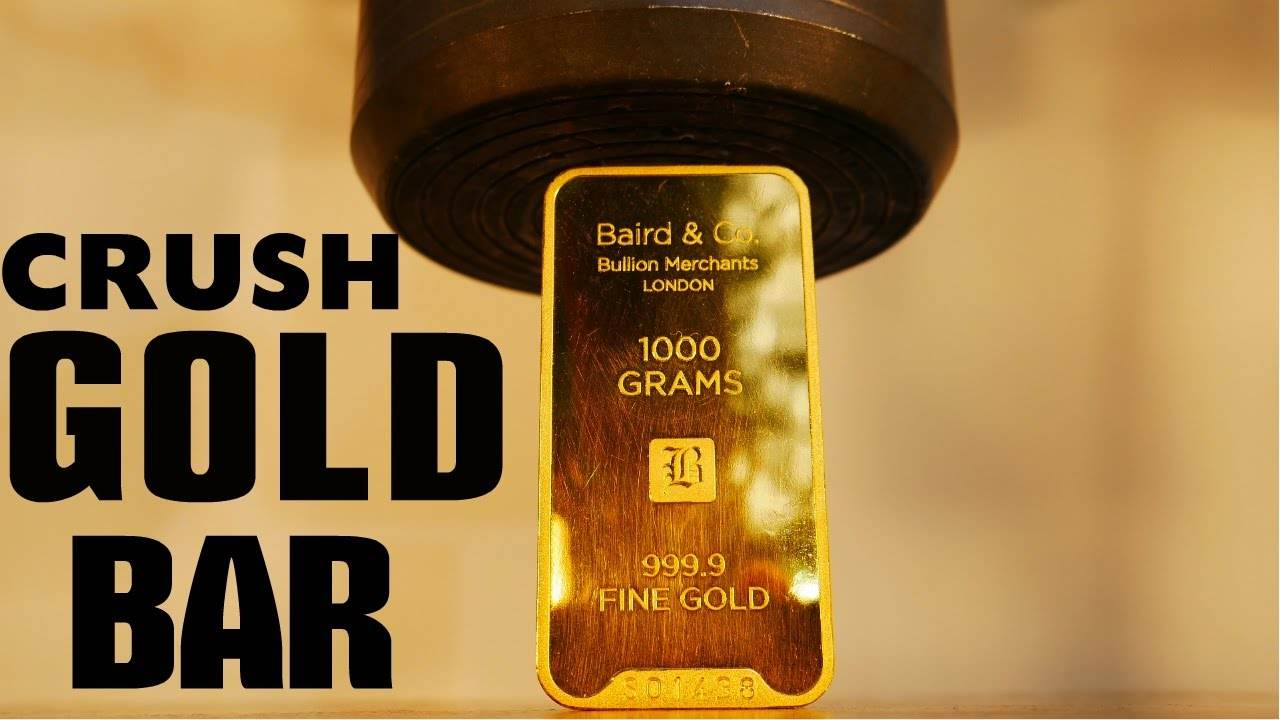 [How Well Does A $40,000 Gold Bar Stand Up To A Press?] Video
