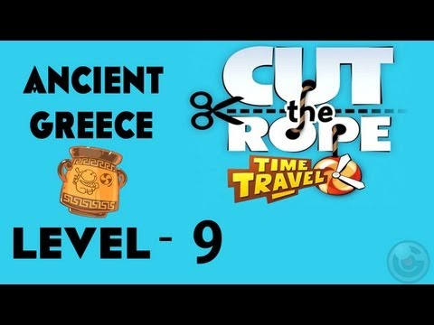 Cut the Rope: Time Travel (Ancient Greece) Walkthrough-3Stars  Level- 9