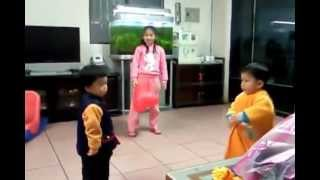 Two Little Girls Fight Without Words Cute