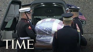 George H.W. Bush Is Laid To Rest In Private Graveside Service Following Public Farewell | TIME