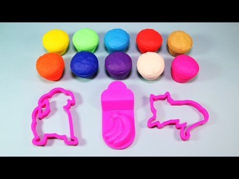 Fun with Play Doh Muffins and Creative Molds for Kids
