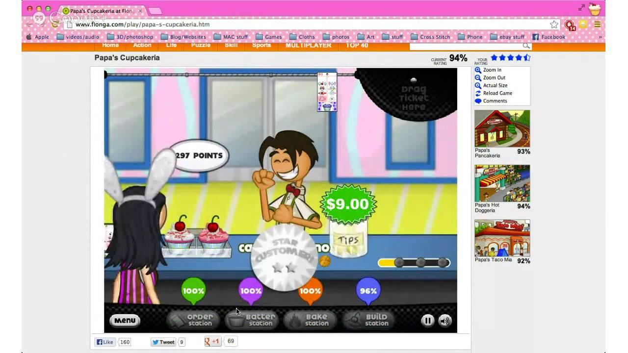 play papas cupcakeria