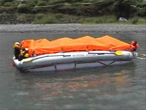 Escape Slide Raft Survie Maritime Slide Raft et