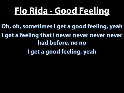 Flo Rida - Good Feeling Lyrics English