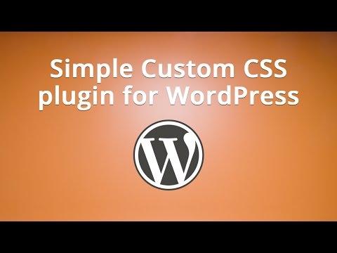 Simple Custom CSS plugin for WordPress