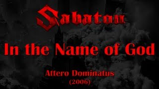 Sabaton - In the Name of God (Lyrics English & Deutsch)