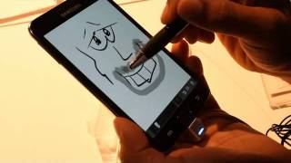 Samsung Galaxy Note S Pen demo
