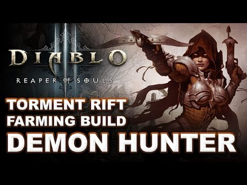 D3 RoS: No Hatred Generator Torment Rift Farming Demon Hunter Build Guide