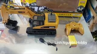 Huina excavator testing - xe xúc điều khiển từ xa tỉ lệ 1/14