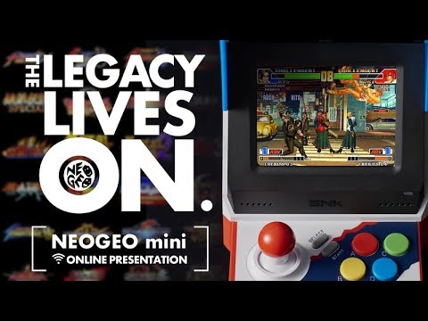 NEOGEO mini Online presentation: THE LEGACY LIVES ON.