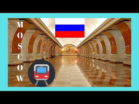 Moscow's famous metro (subway, underground) stations, Russia