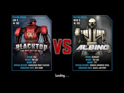 Real Steel WRB Free Sparring | BlackTop(UW II-196) VS Albino(WRB II-196) | NEW ROBOT