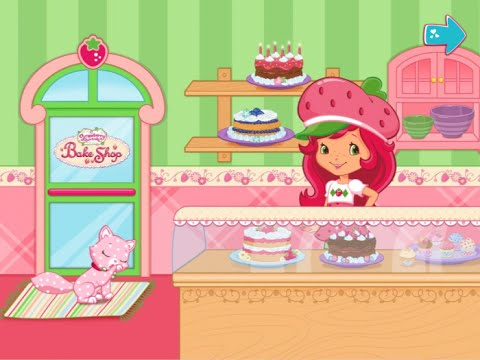 Strawberry Shortcake Bake Shop with ALL tools and recipes unlocked - Best iPad app demo for kids