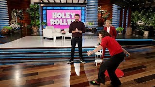 Ellen Fan Plays 'Holey Roller' with Executive Producer Kevin