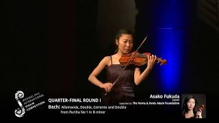 2017 Round #1 Competitor #3 A Fukuda | Bach: Allemanda, Double, Corrente and Double from Partita