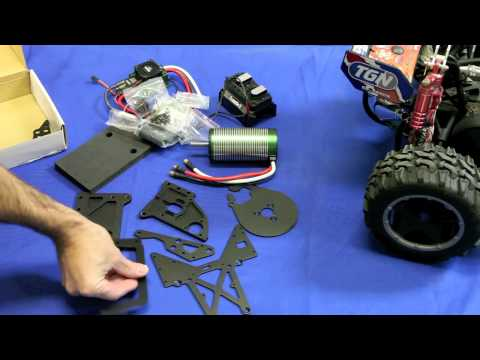 Unboxing the Castle Creations HPI baja brushless conversion kit.