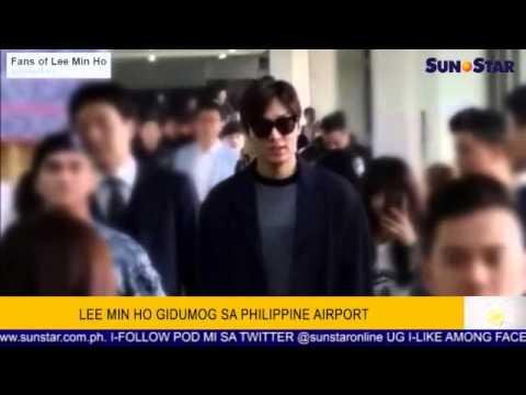 Lee Min Ho gidumog sa Philippine Airport