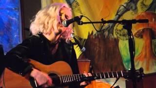 """Kayla Mickelsen sings """"Broadripple is Burning"""" at Rosbrook Studio."""