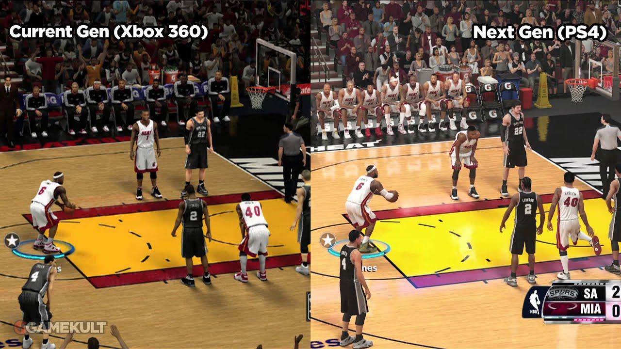 nba 2k14 xbox 360 vs ps4xbox one jeux vid233o par