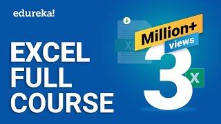 Microsoft Excel Tutorial for Beginners | Excel Training | Excel Formulas and Functions | Edureka