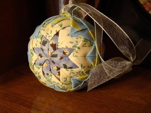 Quilted Christmas Ornament  (No Sew)