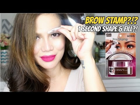 BROW STAMP Review and Demo  (1 Second Shape and Fill?!)