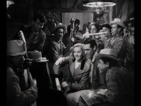 Cary Grant & Jean Arthur at the piano