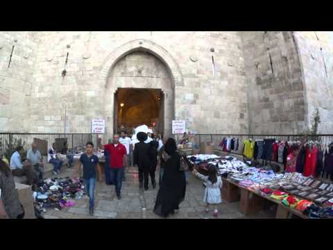 The Market at Damascus Gate, Jerusalem a few hours before the Ramadan fast. Tour Guide: Zahi Shaked