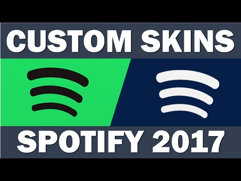Custom Spotify Skins | New Update (2017) | Blue Theme  [Work in Progress]