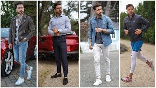 4 Men's Outfits for Spring 2019 | EPIC Men's Fashion Lookbook Ferrari Edition Part 1