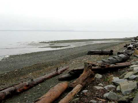 Qualicum Bay Beach, Vancouver Island, Canada - Filmed on February 27, 2010