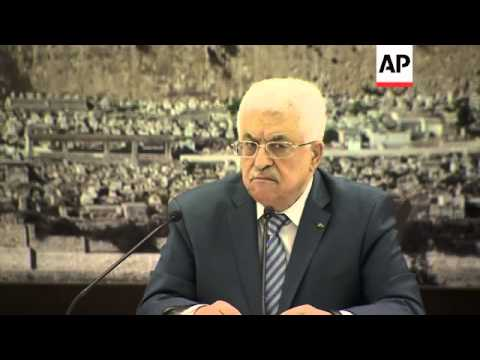 President Abbas says he remains committed to Egypt brokered talks between Hamas and Israel