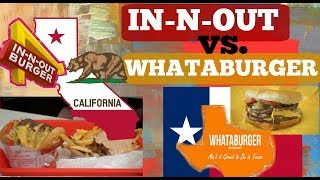 In-N-Out Vs. Whataburger | FOOD CHALLENGE | Size Matters