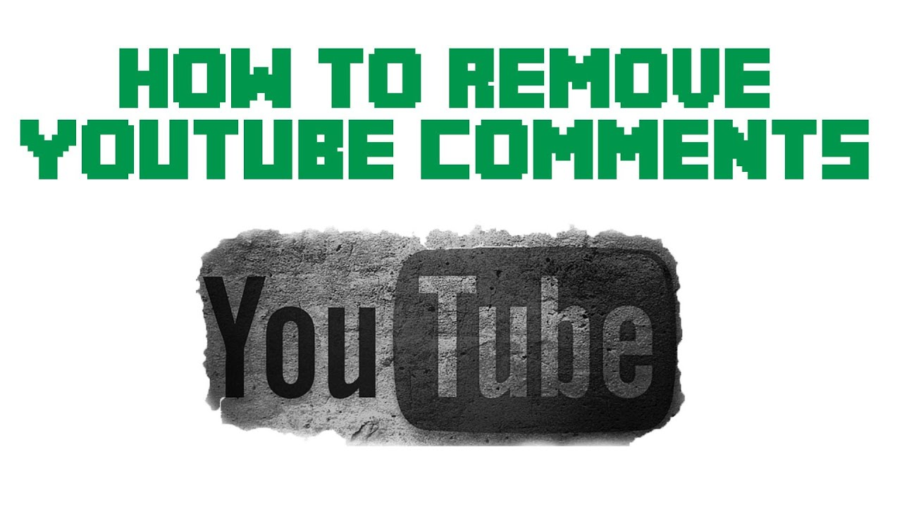 how to delete youtube comments